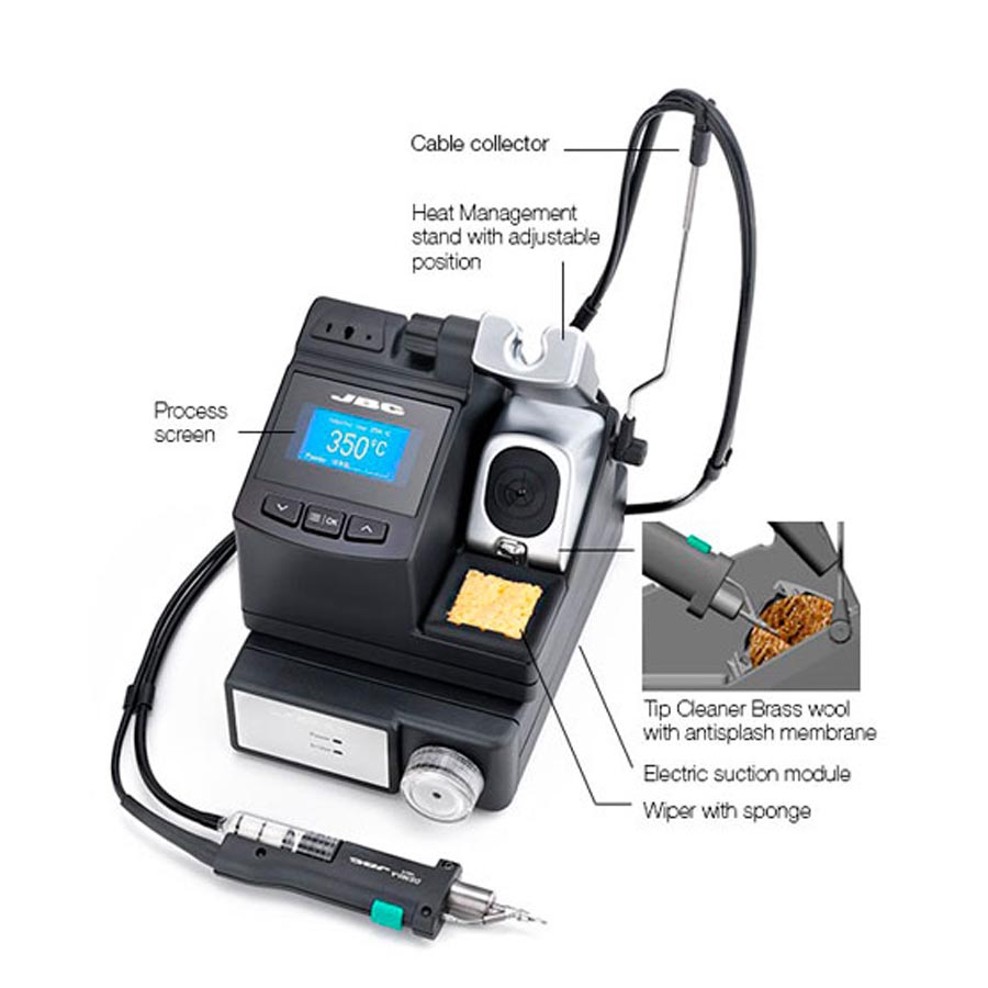 JBC Tools CS Desoldering Station with Electric Pump