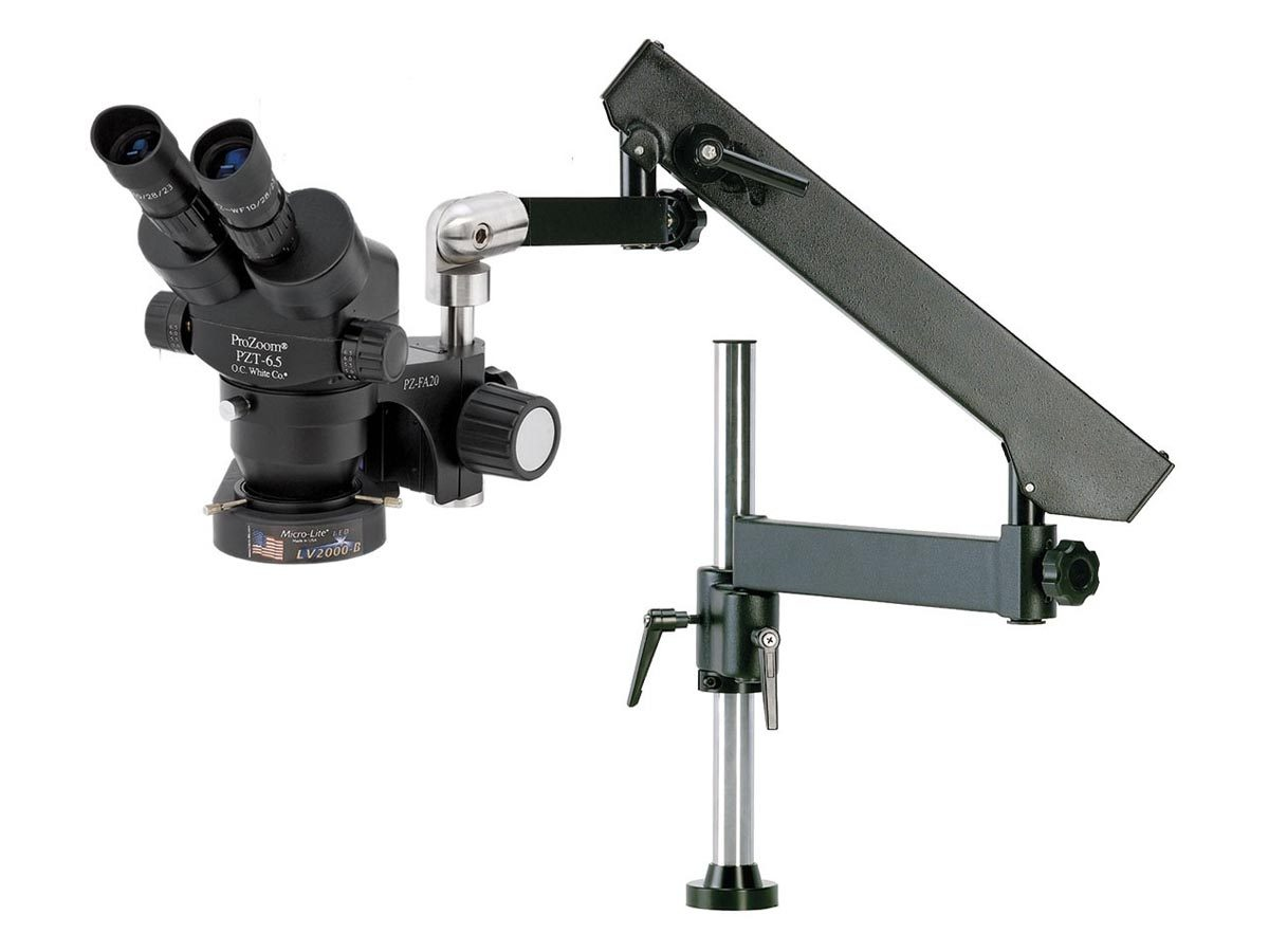ProZoom 6.5 Binocular Microscope - Articulating Arm Base featured